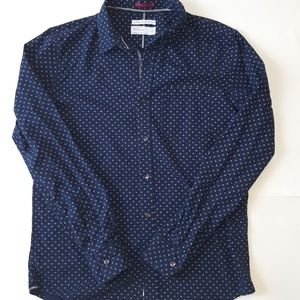 Denim & Flower Navy Button Down Shirt Medium